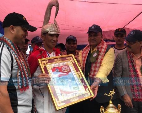 Magar wins crown of Liglige Race in Gorkha