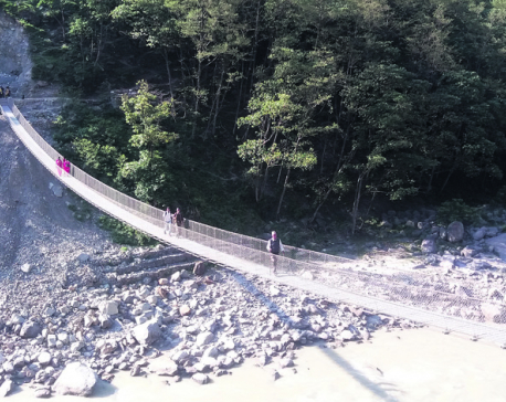 Suspension bridge over Mahakali River elates locals