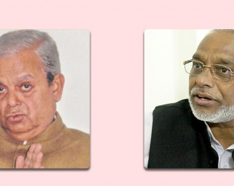 Thakur, Mahato reach Baluwatar to meet PM Oli