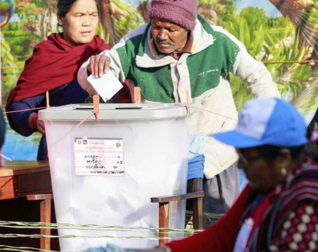 In pictures: Voting in Padma School Kathmandu