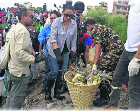 Manisha Koirala 'excited, committed' to clean river Bagmati