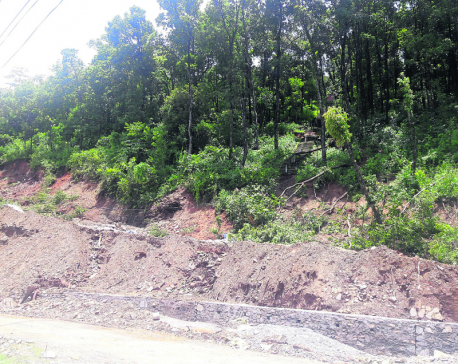 Matepani gumba at high risk of landslide