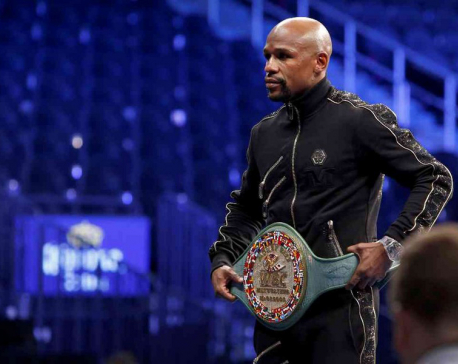 Mayweather finds perfect way to say goodbye to boxing