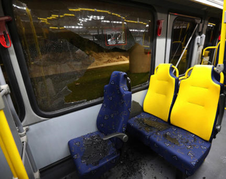 Rio steps up Olympic security; Media bus hit