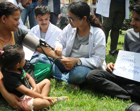 Residential doctors demonstrate in support of Dr KC