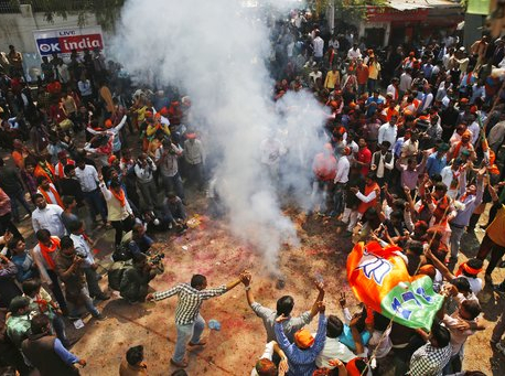 Indian PM Modi's party headed for landslide in state polls
