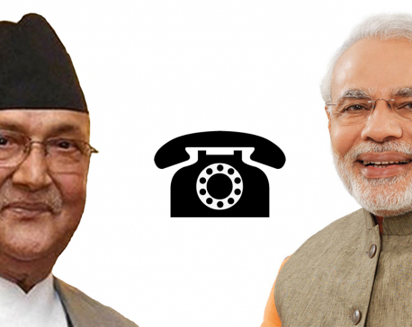 Nepal and India agree to continue discussion on bilateral issues as PM Oli holds telephone conversation with his Indian counterpart