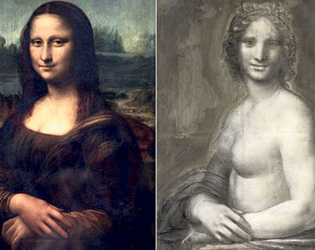 Is 16th-century charcoal sketch a naked Mona Lisa?