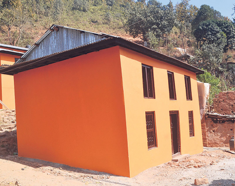Locals appreciating retrofitting of their mud houses