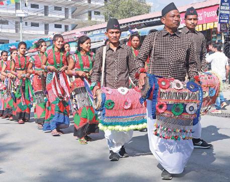 High spirits at Pokhara street festival