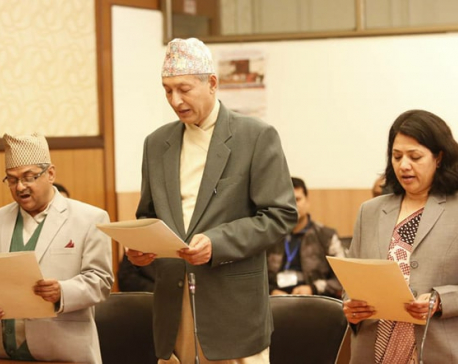 UML govt recommended NA members sworn-in