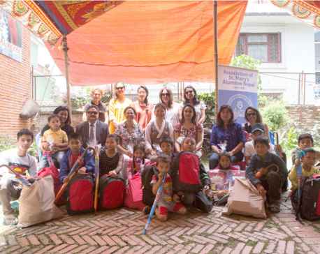 Nabil hands over educational materials