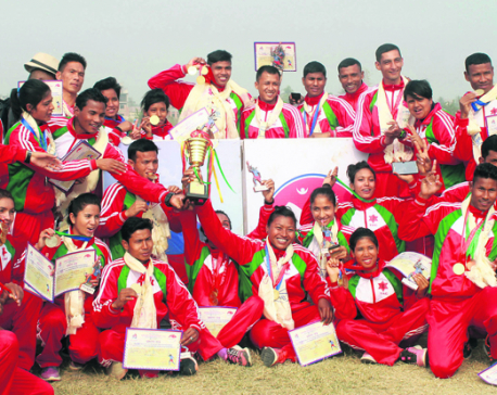 Som wins three golds in his maiden national games