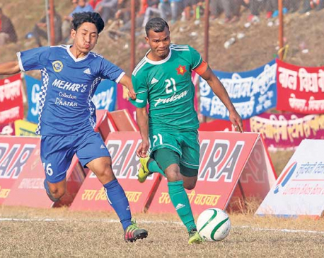 Dharan defeats TAC to advance into semis