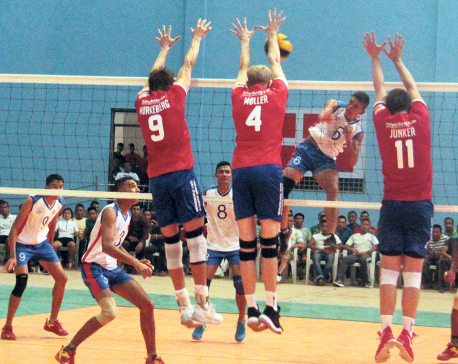 Nepal registers friendly win over Danish volleyball club
