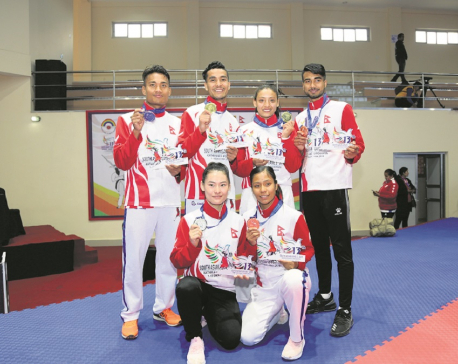 Rasaili, Maharjan win golds in karate