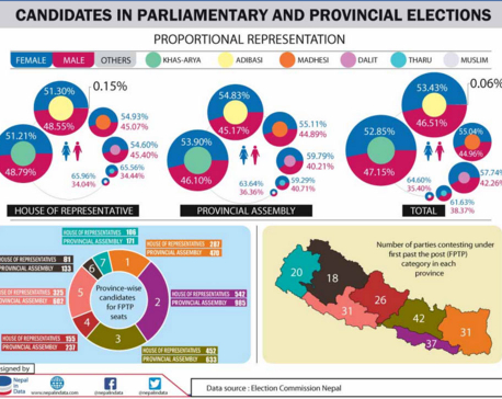 Candidates in parliamentary and provincial elections