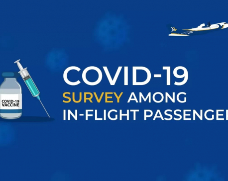 42 pc of domestic air passengers vaccinated or COVID-recovered, shows a Buddha Air Survey