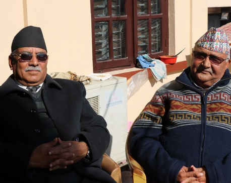 Oli, Dahal discuss govt formation,  party unity