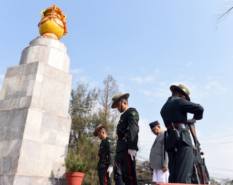PM Oli pays homage to martyrs in capital