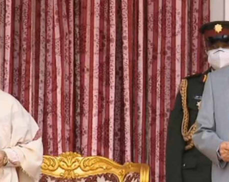 PM Oli takes oath of office and secrecy