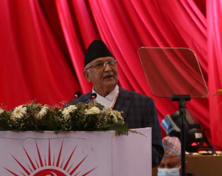 Oli accuses Madhav Nepal of being the mastermind behind UML split