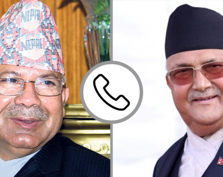 Oli, Nepal hold telephone conversation as dissident UML lawmakers prepare to resign en masse