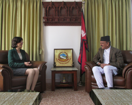 Chinese ambassador and Foreign Minister Mahat hold meeting