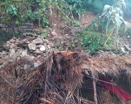 Two children buried to death in Rolpa landslide