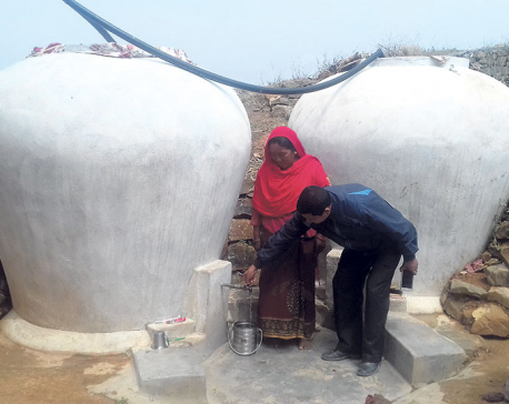 Rainwater collection eases supply crisis