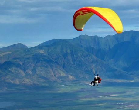 Baglung's Panchakot successfully tests paragliding flights