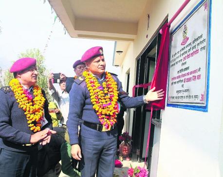 Rebuilding police posts starts in Gorkha