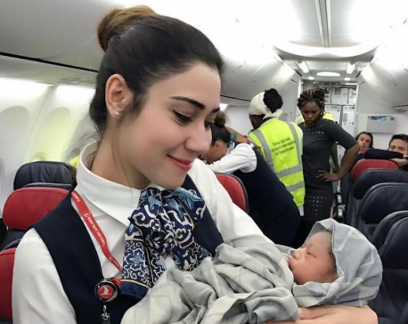 Baby on board: Airline crew delivers baby girl mid-flight
