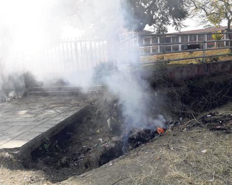 TU continues to burn plastic on its premises