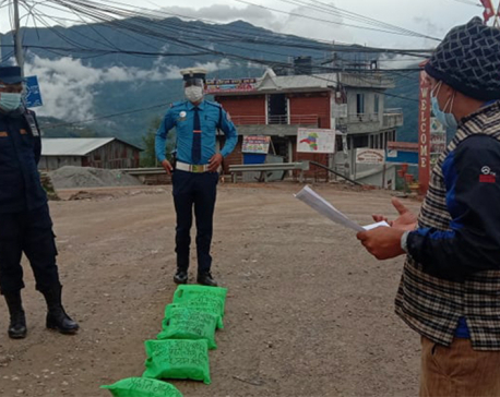 Khotang Chamber of Commerce and Industry distributes masks, sanitizers to frontline workers