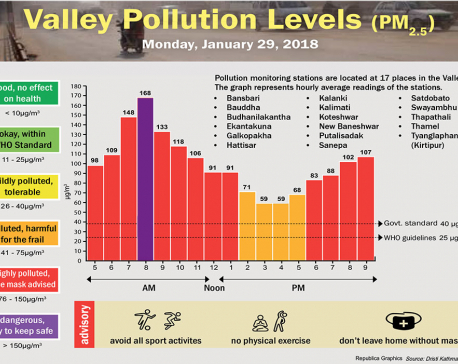 Valley Pollution Levels for 29, January 2018