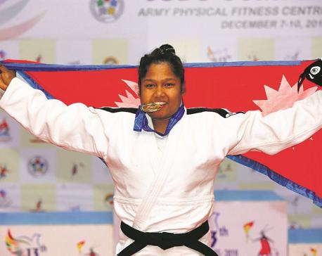 Shrestha wins gold in judo