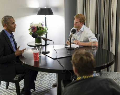 Prince Harry interviews Obama for radio show