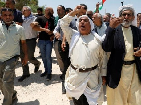 Palestinians protest planned demolition of Khan al-Ahmar