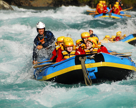 River rafting begins to promote Nepal Visit Year 2020