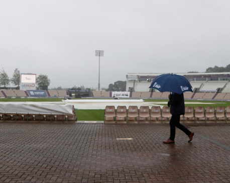 Rain washes out first session in England victory charge