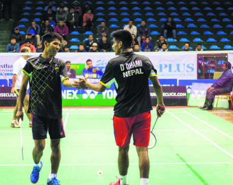 Ratnajit survives as only home player in singles