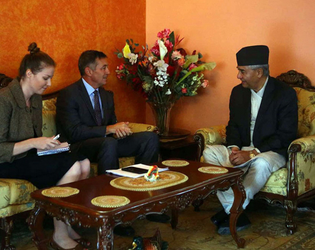 US Ambassador Berry pays courtesy call on President Deuba