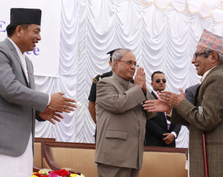 Kabiji how are you?: Indian President Mukherjee to Rastrakabi Ghimire