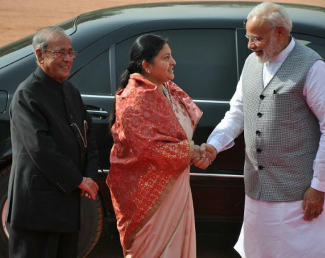 Official day of Prez Bhandari in New Delhi (Photo feature)