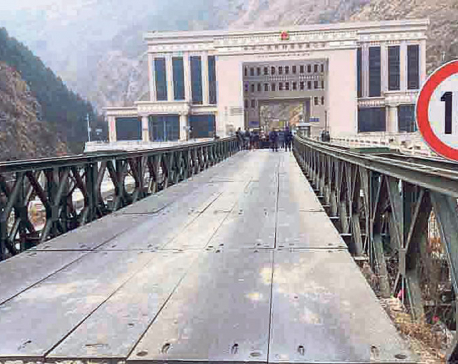Rasuwagadhi trade route remains shut due to bridge damage