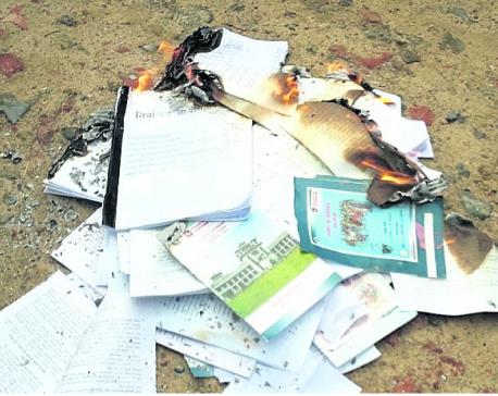 RJPN cadres torch poll materials