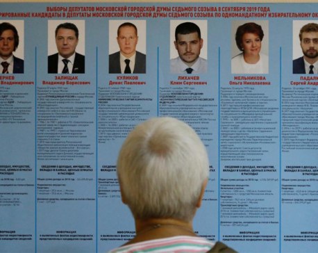Russians vote in regional elections after biggest protests in years