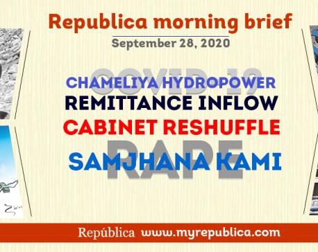 Republica Morning Brief: Sept 28
