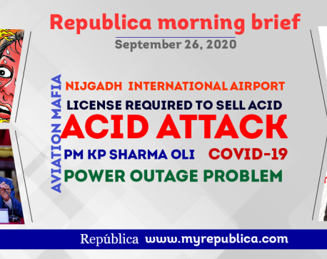Republica Morning Brief: Sept 26